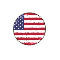 Flag Of The United States America Hat Clip Ball Marker (4 Pack) by paulaoliveiradesign