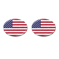 Flag Of The United States America Cufflinks (oval) by paulaoliveiradesign