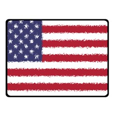 Flag Of The United States America Fleece Blanket (small) by paulaoliveiradesign
