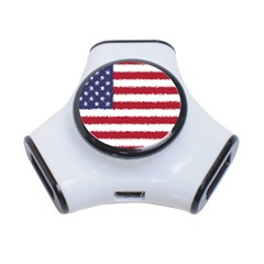 Flag Of The United States America 3 Port Usb Hub by paulaoliveiradesign