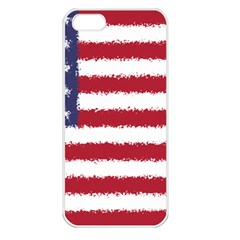 Flag Of The United States America Apple Iphone 5 Seamless Case (white) by paulaoliveiradesign
