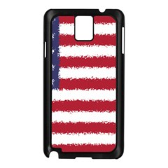 Flag Of The United States America Samsung Galaxy Note 3 N9005 Case (black) by paulaoliveiradesign