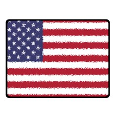 Flag Of The United States America Double Sided Fleece Blanket (small)  by paulaoliveiradesign