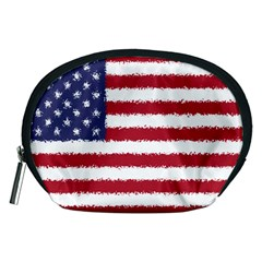 Flag Of The United States America Accessory Pouches (medium)  by paulaoliveiradesign