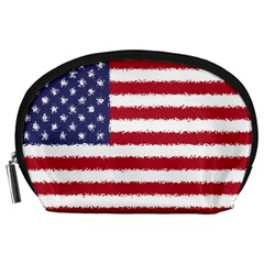 Flag Of The United States America Accessory Pouches (large)  by paulaoliveiradesign
