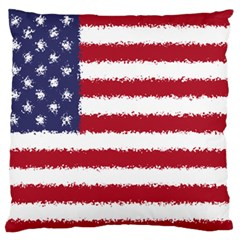Flag Of The United States America Large Flano Cushion Case (two Sides) by paulaoliveiradesign