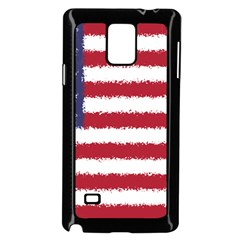 Flag Of The United States America Samsung Galaxy Note 4 Case (black) by paulaoliveiradesign