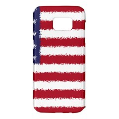 Flag Of The United States America Samsung Galaxy S7 Edge Hardshell Case by paulaoliveiradesign