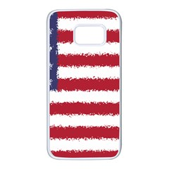 Flag Of The United States America Samsung Galaxy S7 White Seamless Case by paulaoliveiradesign