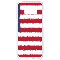 Flag Of The United States America Samsung Galaxy S8 White Seamless Case by paulaoliveiradesign