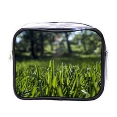 Green Grass Field Mini Toiletries Bags by paulaoliveiradesign