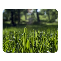 Green Grass Field Double Sided Flano Blanket (large)  by paulaoliveiradesign