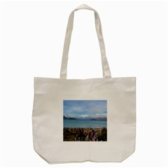 Lake Tekapo New Zealand Landscape Photography Tote Bag (cream) by paulaoliveiradesign