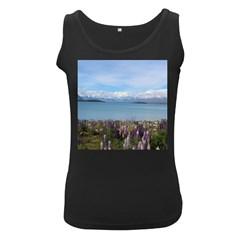 Lake Tekapo New Zealand Landscape Photography Women s Black Tank Top by paulaoliveiradesign