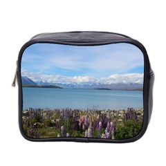 Lake Tekapo New Zealand Landscape Photography Mini Toiletries Bag 2 Side by paulaoliveiradesign