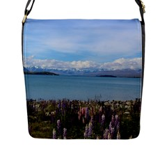 Lake Tekapo New Zealand Landscape Photography Flap Messenger Bag (l)  by paulaoliveiradesign
