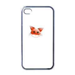 Animal Image Fox Apple Iphone 4 Case (black) by BangZart