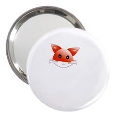 Animal Image Fox 3  Handbag Mirrors by BangZart