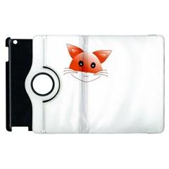 Animal Image Fox Apple Ipad 2 Flip 360 Case by BangZart
