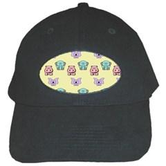 Animals Pastel Children Colorful Black Cap by BangZart