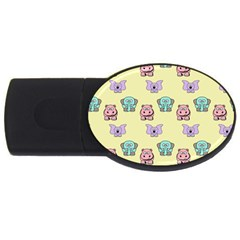 Animals Pastel Children Colorful Usb Flash Drive Oval (4 Gb) by BangZart