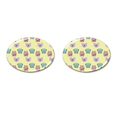 Animals Pastel Children Colorful Cufflinks (oval) by BangZart