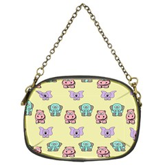 Animals Pastel Children Colorful Chain Purses (one Side)  by BangZart