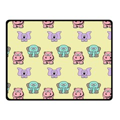 Animals Pastel Children Colorful Fleece Blanket (small) by BangZart