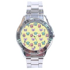 Animals Pastel Children Colorful Stainless Steel Analogue Watch by BangZart