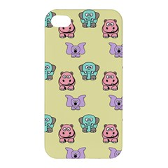 Animals Pastel Children Colorful Apple Iphone 4/4s Hardshell Case by BangZart