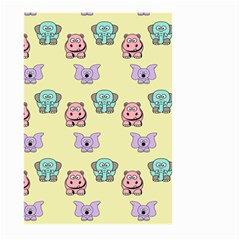 Animals Pastel Children Colorful Large Garden Flag (two Sides) by BangZart