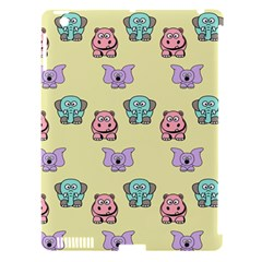 Animals Pastel Children Colorful Apple Ipad 3/4 Hardshell Case (compatible With Smart Cover) by BangZart
