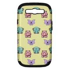 Animals Pastel Children Colorful Samsung Galaxy S Iii Hardshell Case (pc+silicone) by BangZart