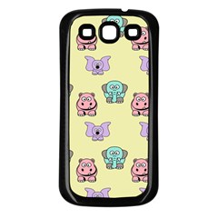 Animals Pastel Children Colorful Samsung Galaxy S3 Back Case (black) by BangZart