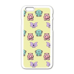 Animals Pastel Children Colorful Apple Iphone 6/6s White Enamel Case by BangZart