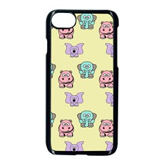 Animals Pastel Children Colorful Apple Iphone 7 Seamless Case (black) by BangZart