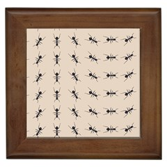 Ants Pattern Framed Tiles by BangZart