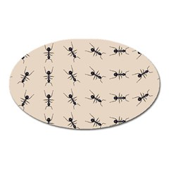 Ants Pattern Oval Magnet by BangZart