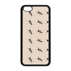 Ants Pattern Apple Iphone 5c Seamless Case (black) by BangZart
