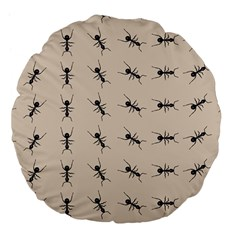 Ants Pattern Large 18  Premium Flano Round Cushions by BangZart