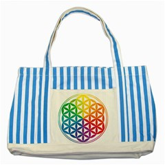 Heart Energy Medicine Striped Blue Tote Bag by BangZart
