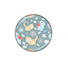 Cute Cat Background Pattern Hat Clip Ball Marker by BangZart