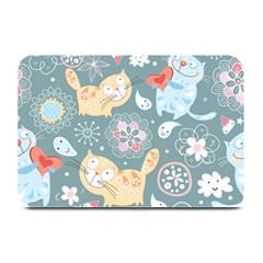 Cute Cat Background Pattern Plate Mats by BangZart