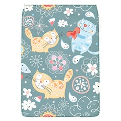 Cute Cat Background Pattern Flap Covers (s)  by BangZart