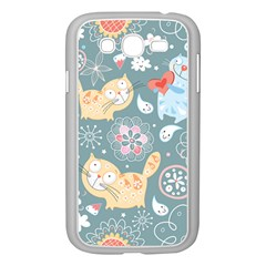Cute Cat Background Pattern Samsung Galaxy Grand Duos I9082 Case (white) by BangZart