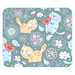 Cute Cat Background Pattern Double Sided Flano Blanket (small)  by BangZart