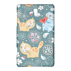 Cute Cat Background Pattern Samsung Galaxy Tab S (8 4 ) Hardshell Case  by BangZart