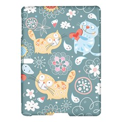 Cute Cat Background Pattern Samsung Galaxy Tab S (10 5 ) Hardshell Case  by BangZart