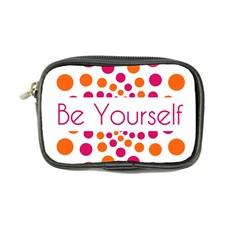 Be Yourself Pink Orange Dots Circular Coin Purse by BangZart