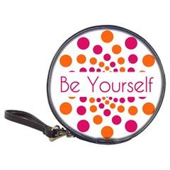 Be Yourself Pink Orange Dots Circular Classic 20 Cd Wallets by BangZart